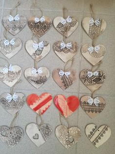 Christmas Ideas, Christmas Ornaments, Air Dry Clay, Relax, Crafts, Hands, Hearts, Weddings, Xmas