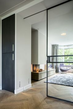 Good sliding glass door bottom track only in homestre design Doors Interior, House Design, Living Room Interior, Home And Living, Interior Design, Home, Interior Architecture Design, Contemporary Internal Doors, Living Design