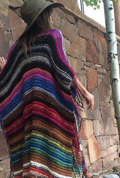 LONG Handknit Womens Bohemian Festival Hippie Beach by poshbygosh