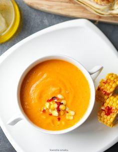 Zupa z pieczonej dyni Food And Drink, Menu, Pudding, Vegetarian, Healthy Recipes, Desserts, Fit, Ideas, Recipes