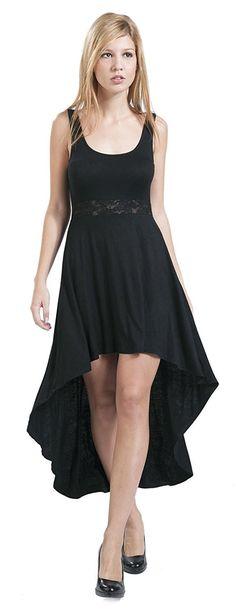 Black Premium by EMP Vokuhila Kleid schwarz: Amazon.de: Bekleidung