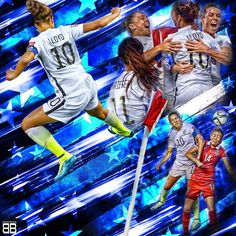 Carli Lloyd celebrates her goal as USA defeated China to advance to the semi-finals where they will face Germany Carli Lloyd, Hope Solo, Play Soccer, Semi Final, Best Player, Soccer Players, World Cup, Finals, Goal