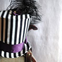 Striped Gothic - Steampunk Top Hat by RagDolliesMadhouse @ Etsy- super cute!