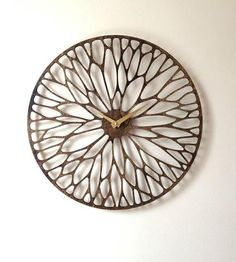 Wandering Laser Cut Wood Clock by Sarah Mimo Manufactory available at Withal now. Laser Art, Laser Cut Wood, Laser Cutting, Wooden Wall Art, Wood Art, Corte Plasma, Laser Cutter Ideas, Cnc Wood, Plywood