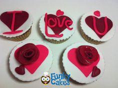 I Love U cupcakes