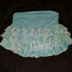 Abercrombie and Fitch roughed skirt floral neon Super cute worn but good condition Abercrombie & Fitch Skirts Mini