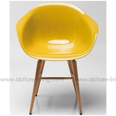 FORUM WOOD by Kare Chaise jaune moutarde - 20786663 - Abitare Living