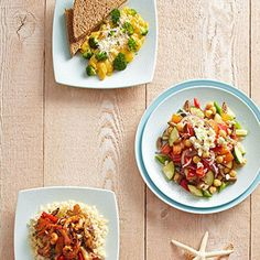 Slim down and get beach-ready with this collection of easy, healthy recipes. Mix and match the meals for breakfast, lunch, dinner, and snack for a total of 1,500 calories a day. - Fitnessmagazine.com