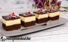 Grízes kocka recept fotóval Cheesecake, Food, Cheesecakes, Essen, Meals, Yemek, Cherry Cheesecake Shooters, Eten