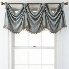 See more window coverings and window shades blinds installation. Dining Room Drapes, Valances For Living Room, Kitchen Valances, Living Room Windows, House Windows, Drapes Curtains, Drapery, Farmhouse Window Treatments, Valance Window Treatments