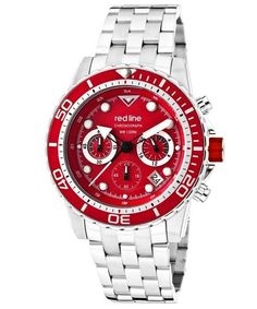 Love the RED LINE Men'S Piston Chronograph Red Dial Red Bezel Stainless Steel RL-50034-55-RD-BZ Watch on Wantering.