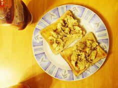 {scrambled eggs on toast} This Muslim Girl Bakes: June Food + Favourites! Egg Toast, Muslim Girls, Scrambled Eggs, Breakfast Recipes, June, Baking, Ethnic Recipes, Food, Bakken