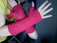 Bethany Sew-and-Sew: Bethany's Fingerless Mittens--My First Crochet Pattern
