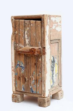 Driftwood Floor standing cupboard,Cabinet, Drift wood Boat wood and reclaimed