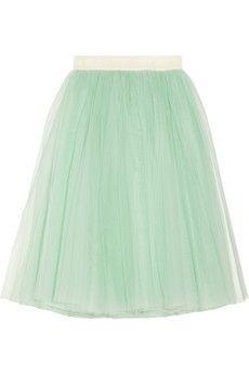 Layered tulle midi skirt