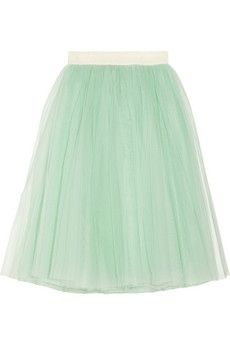 for wedding after parties. ++ layered tulle midi skirt ++ d