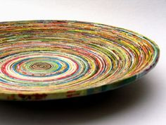 Recycled poster bowl.