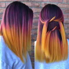 Sunset hair color Hair Artist (@stephanyvanstone) on Instagram
