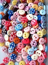 tiny polka dot buttons