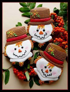 Fall Scarecrow Cookies