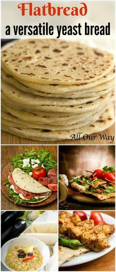 Flatbread a versatile Mediterranean yeast bread, a pocketless pita, that's a springboard for many delicious dishes from appetizers to main dishes.