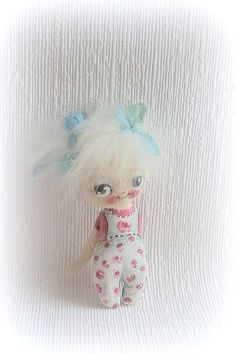 Shabby chic hand painted cloth doll by suziehayward on Etsy, $62.00