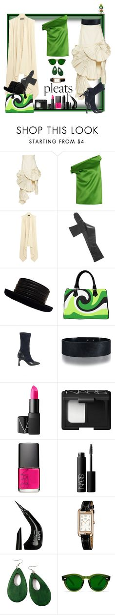 """""""I know that men are from Mars, and women are from Venus, but does he have to wear that helmet!"""" by ritva-harjula ❤ liked on Polyvore featuring Jacquemus, Balenciaga, Isabel Marant, Kokin, Amanda Wakeley, NARS Cosmetics, NYX and Hermès"""