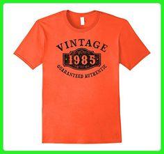 Mens 32 years old 1985 Authentic 32nd B-day Birthday Gift Shirt XL Orange - Birthday shirts (*Amazon Partner-Link)