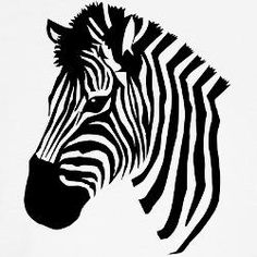 zebra drawing head simple face clipart outline zebras google line tattoo clip vector cartoon cliparts puzzle silhouette animal coloring pages