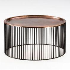 d77108112a3bdf Table basse ronde Wire cuivre 2 set Kare Design KARE DESIGN   prix ...