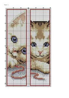 Bookmark Cross stitch cat