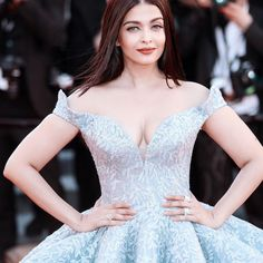 Aishwarya Rai shows her cleavage At the 'Okja' screening during the 70th annual Cannes Film Festiva 2017