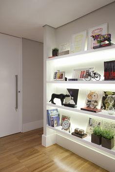 Apartamento Oscar Freire / Triplex Arquitetura #shelves #wall #lighting