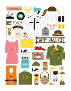Moonrise Kingdom Essentials Wes Anderson Fan Art Inspiration Collection — Cher Amis