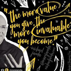 #Repost @morejanda with  THE MORE VALUE YOU GIVE THE MORE INVALUABLE YOU BECOME by @morejanda  This is some secret sauce in business relationships social media entrepreneurship and life in general! The more value you give to your boss clients coworkers friends family and anyone else for that matter the more invaluable you become. Start using this approach in your business dealings. Go the extra mile. Give more than expected. Look for unique ways to be valuable to those whom you serve and you… Go The Extra Mile, Your Boss, Friends Family, Entrepreneurship, Relationships, Social Media, Business, Unique, Life