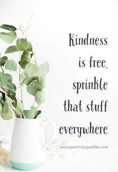 Kindness is free, spring that stuff everywhere! #positivitysparkles #positivevibes #positivethoughts #kindness #quoteoftheday