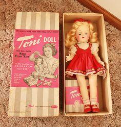 Vintage Toni Doll w/ Magic Nylon Hair in Box