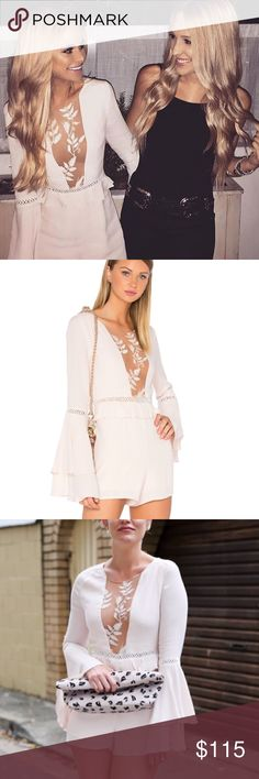 For Love And Lemons Emilia Romper NWT For Love And Lemons Pants Jumpsuits & Rompers