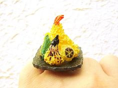 Kawaii Cute Japanese Ring Tempura Miniature by SouZouCreations, $12.50