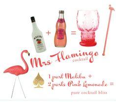 Mrs. Flamingo cocktail