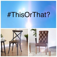 #ThisOrThat - Which one do you like the most? Dining Set, Dining Chairs, Ottoman, Bedroom, Table, Furniture, Home Decor, Dinning Set, Decoration Home
