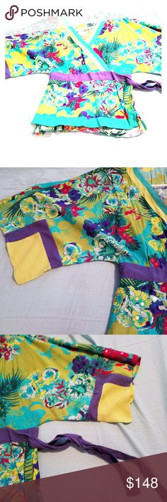 Silk kimono Beautiful!!!! Silk and sequin kimono. Never been worn. Made in Brazil. From Cant?o. Cant?o  Tops Blouses