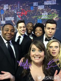 On the #SNL40 red carpet with Kenan Thompson, Pete Davidson, Jay Pharoah, Sasheer Zamata, Taran Killam, Kate McKinnon, & Aidy Bryant