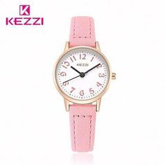 cd2f4d4335 KEZZI Brand Watches Women Fashion Quartz Wristwatch Arabic Numerals Dial  Fabric Watch Waterproof Girls Kids Clock relojes mujer