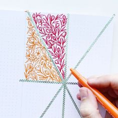 Geometric Floral Design Using Washi Tape Tutorial 2019 Washi Tape Floral Tutorial Creating A Bullet Journal, Bullet Journal Layout, Bullet Journal Inspiration, Journal Ideas, Flower Typography, Bujo Inspiration, Rainbow Palette, Dot Grid Notebook, Tape Art