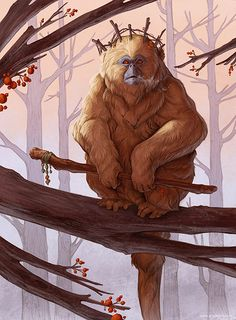 Brynn Metheney Specializes in creature design, animal illustration and visual development for publishing, film and games. Alien Creatures, Fantasy Creatures, Mythical Creatures, Monkey Art, Monkey King, Creature Concept Art, Creature Design, Fantasy Beasts, Fantasy Art