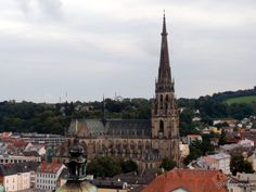 The New Cathedral (consecrated  in 1924) of Linz, Austria
