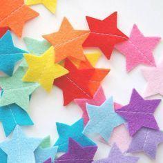 rainbow felt star nursery garland by littlenestbox | notonthehighstreet.com
