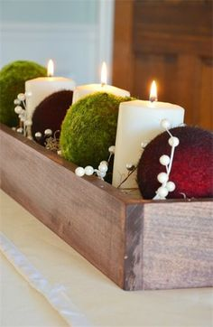Christmas table decor DIY, Christmas decor table ideas, Holiday Christmas candle #Christmas #table #decor #DIY www.loveitsomuch.com