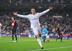 Cristiano Ronaldo of Real Madrid FC celebrates after scoring his team's opening… Last Action Hero, Ronaldo Real Madrid, Football Gif, Cristiano Ronaldo, Celebrities, Sports, The League, Lightning Bolt, Hs Sports